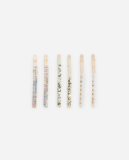 PACK OF EMBELLISHED HAIR CLIPS