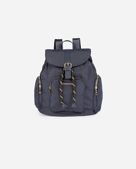 BACKPACK WITH DRAWSTRING DETAIL