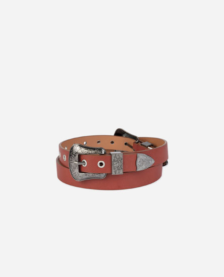 BELT WITH EMBOSSED BUCKLE