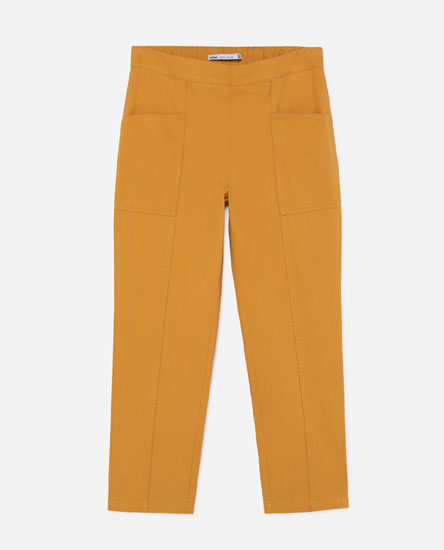COLOURED CARGO JEANS