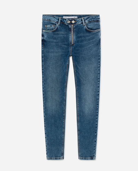 DOUBLE-BREASTED SKINNY JEANS