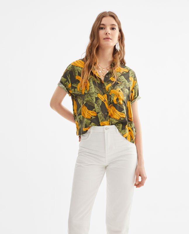 39cf7ed70d Lefties - camisa cropped - 0-098 - 01904310-V2019