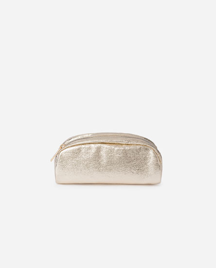 METALLIC RECTANGLE TOILETRY BAG