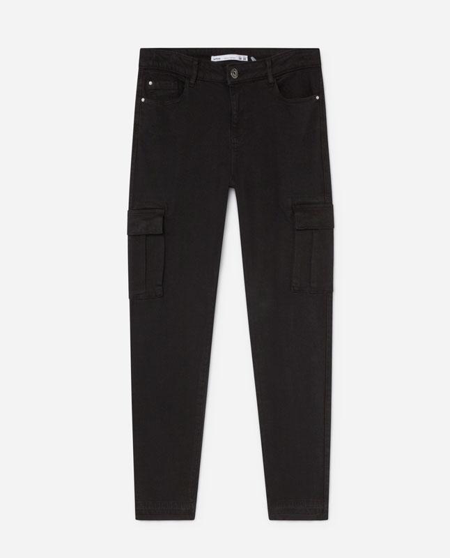Lefties - jeans súper skinny cargo - negro - 05402319-V2019 1b32f1727d62