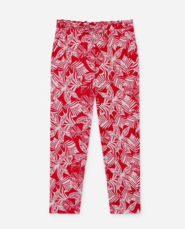 a6de6bf264 Lefties - pantalón estampado - blanco rojo - 05922301-V2019
