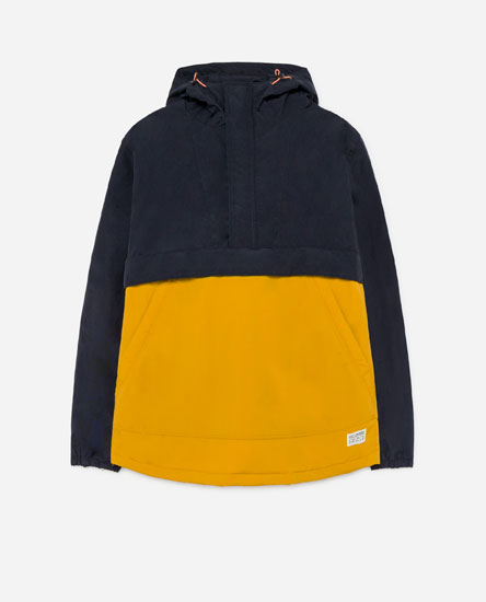 TWO-TONE POUCH POCKET JACKET