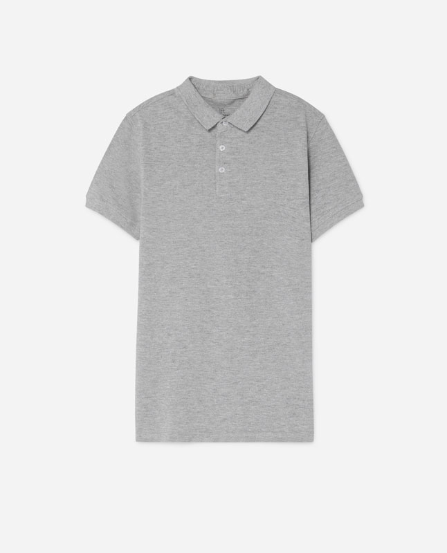 Lefties - polo essentials - gris vigoré - 05101501-V2019 331a722ed3c0d