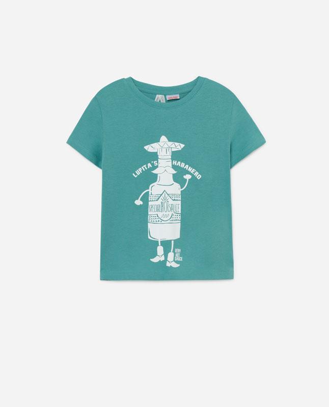 a8dfa2512 Lefties - camiseta print chilis - verde delavado - 01012800-V2019