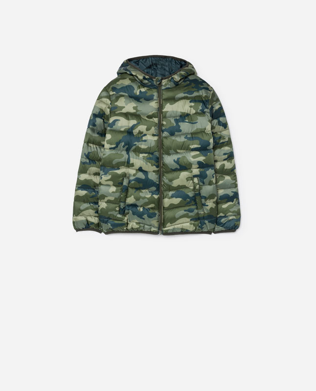 9c312bf38153 CAMOUFLAGE PUFFER JACKET - Coats and jackets - COLLECTION - BOYS ...