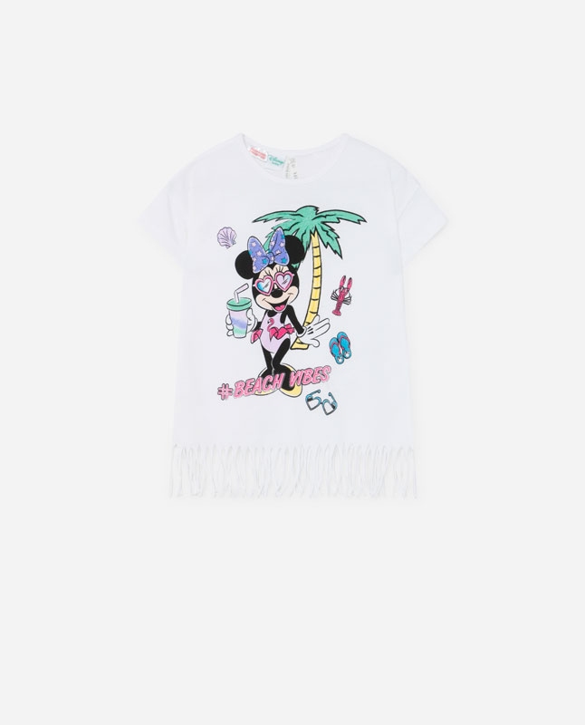 2c957758 MINNIE MOUSE T-SHIRT WITH FRINGING © Disney - T-shirts and bodysuits ...
