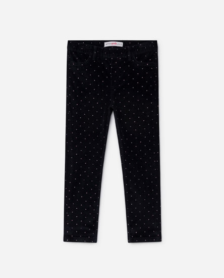 PRINTED CORDUROY TROUSERS