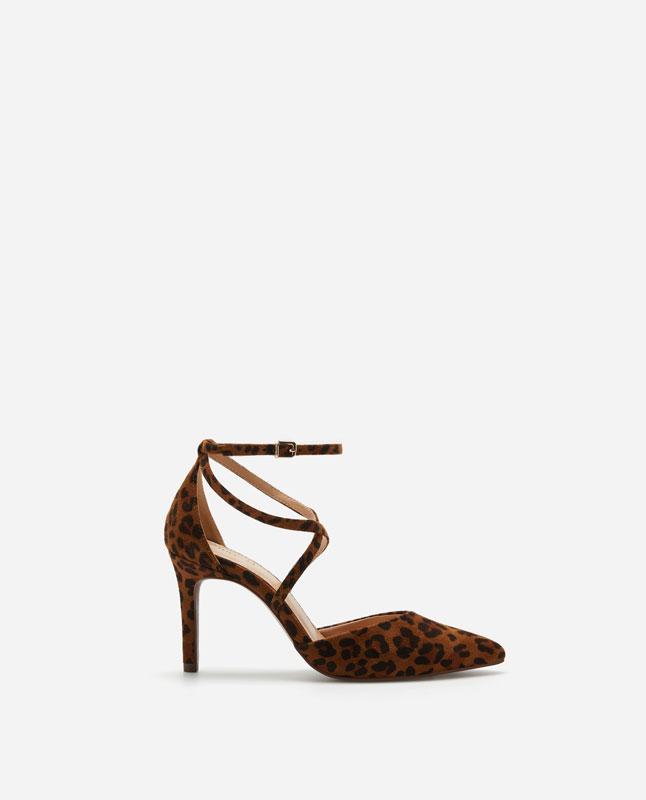 6179ca09705 Lefties - zapato tacón print animal - animal print - 11414091-V2019