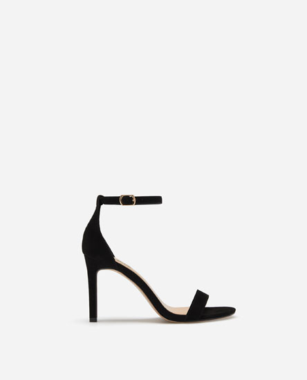 STILETTO-HEEL SANDALS WITH ANKLE STRAP