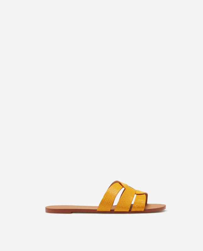8a0d079d93bf5 Lefties - sandalia corte cruzado - amarillo - 13430091-V2019