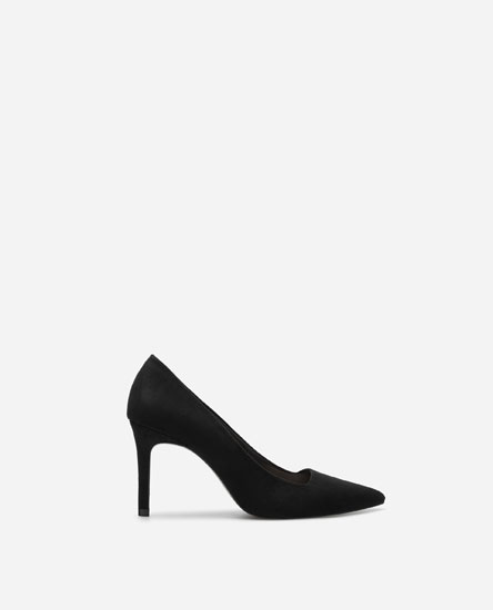 HIGH-HEEL SHOES WITH STRAIGHT-CUT VAMP - SUPER PRICE