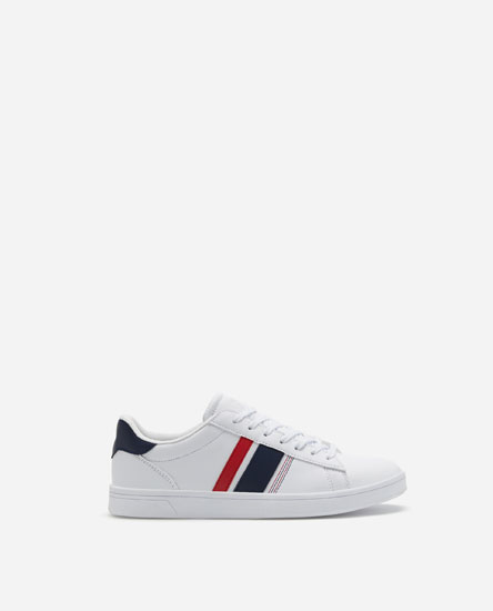 PLIMSOLLS WITH FLAG HEEL CAPS