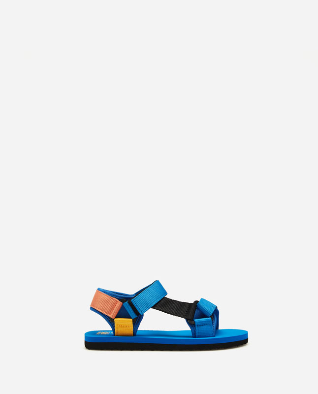 ed5c09c19 Lefties - sandália tiras aderentes cores - azulão - 12654093-V2019