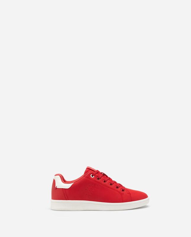 765bdbcdb Lefties - ténis em vermelho com calcanhar branco - vermelho - 13132093-V2019