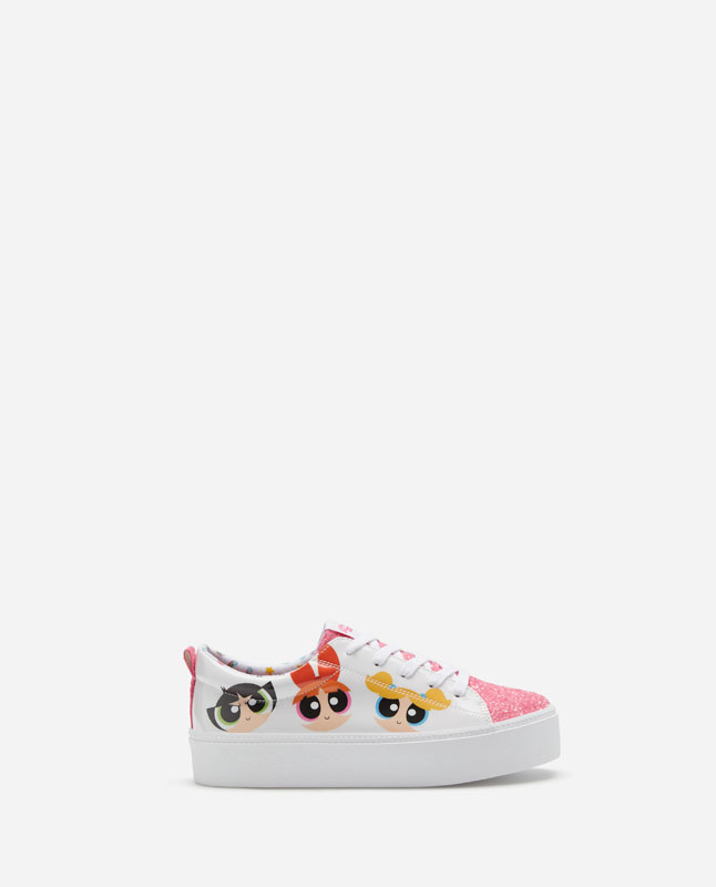 057485e275784 CHUNKY SOLE POWERPUFF GIRLS PLIMSOLLS