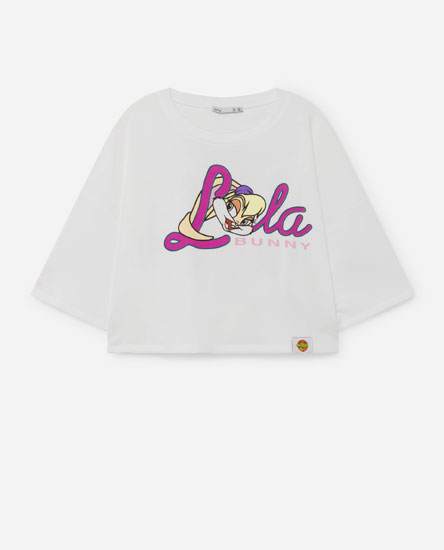 Sweatshirt cropped Space Jam