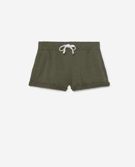 Coloured plush shorts