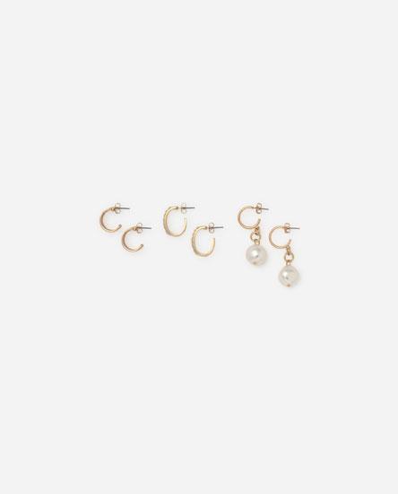 3-pack of assorted earrings