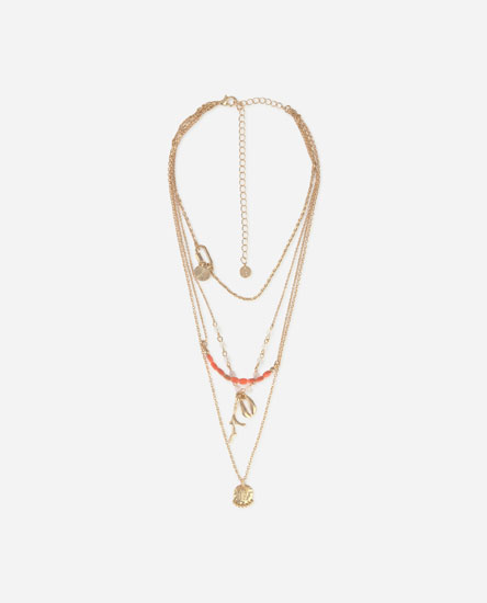 Sea-inspired multi-strand necklace