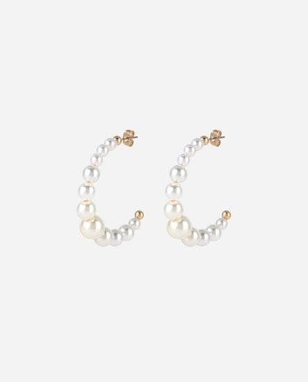 Arracades cèrcols perles irregulars