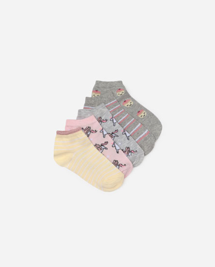 Pack of 5 unicorn socks