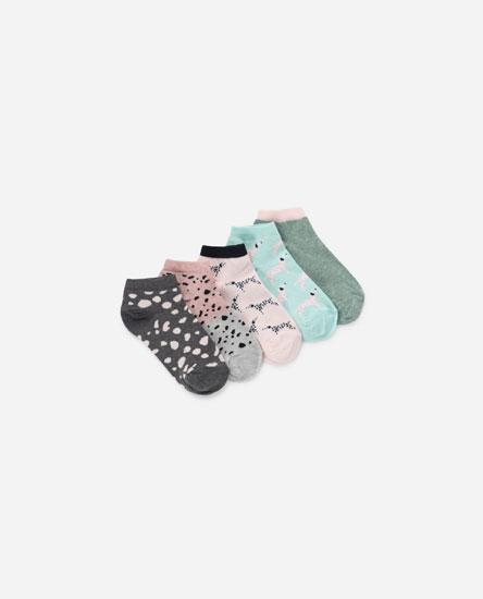 Pack 5 pares de meias curtas