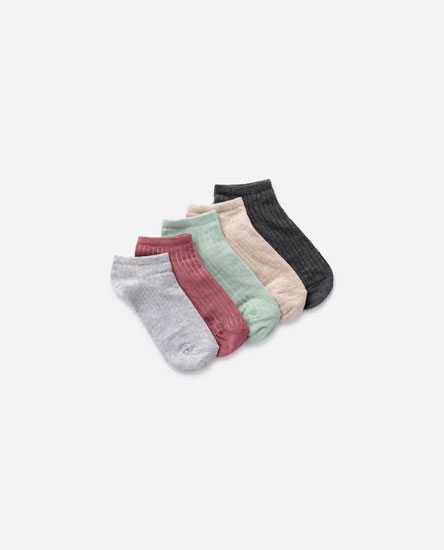 5-pack of ribbed knit socks