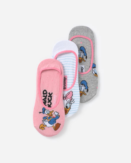3-Pack of Donald and Daisy socks