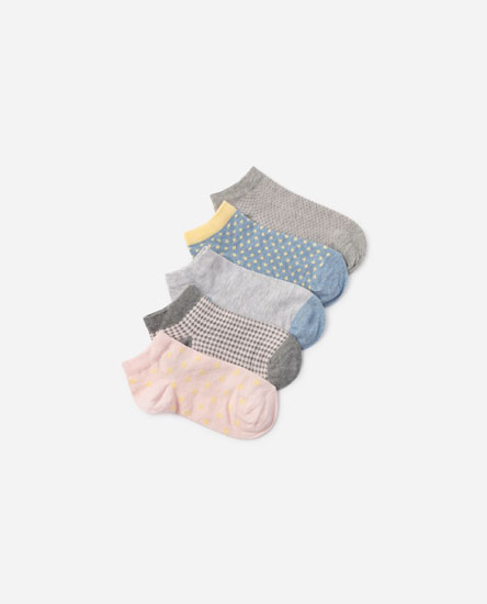 5-pack of ankle socks