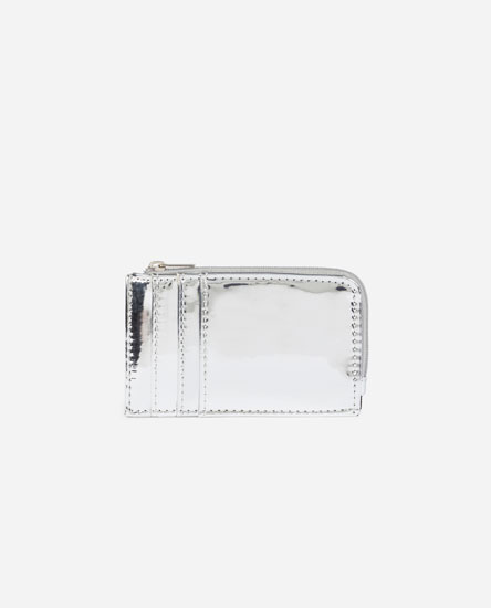 Metallic card holder purse