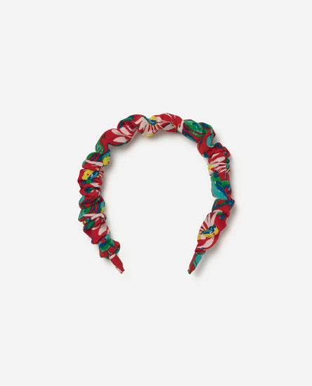 Gathered printed headband