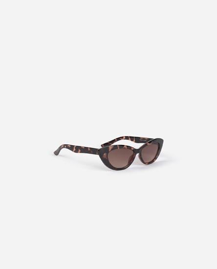 Óculos cat eye com padrão
