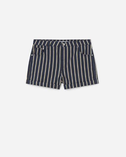 Pantalón curto denim estampado