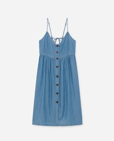 Strappy denim dress