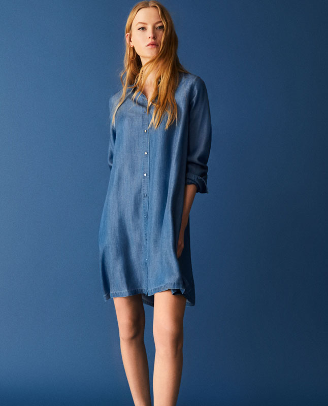 Flowing shirt dress