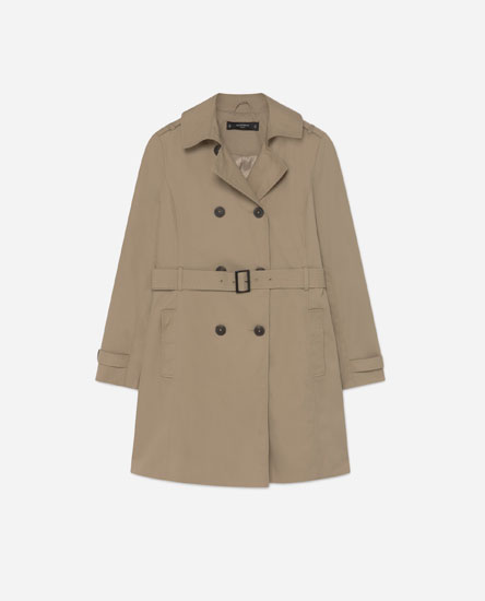 Trench coat with belt detail