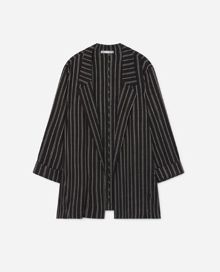 Striped flowing blazer
