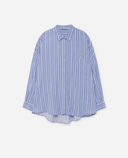 Camisa larga estampada