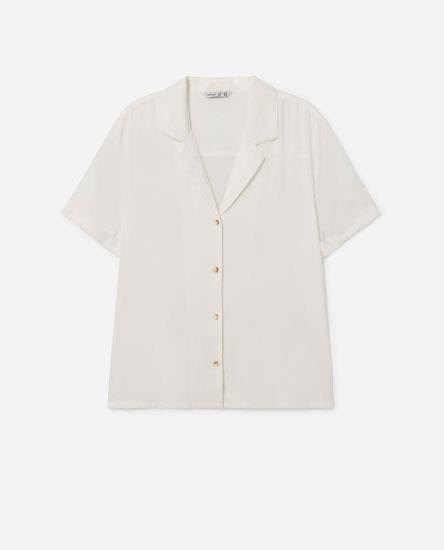 Camisa crop de manga corta