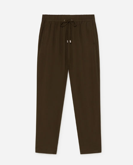 Long flowing trousers