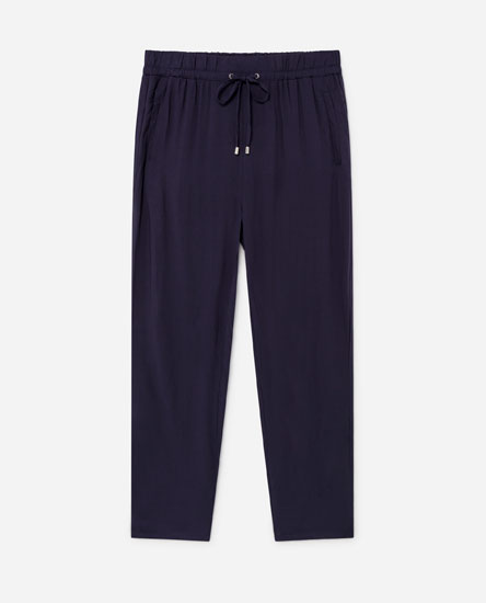 Flowing drawstring trousers
