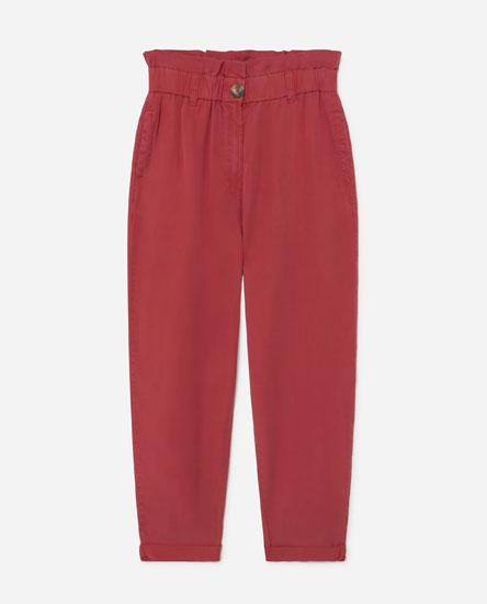 High-waist lyocell trousers