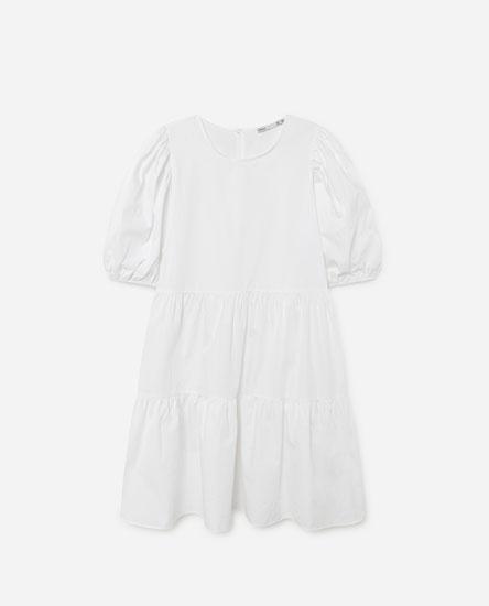 Short poplin dress