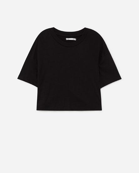 Short sleeve cropped T-shirt