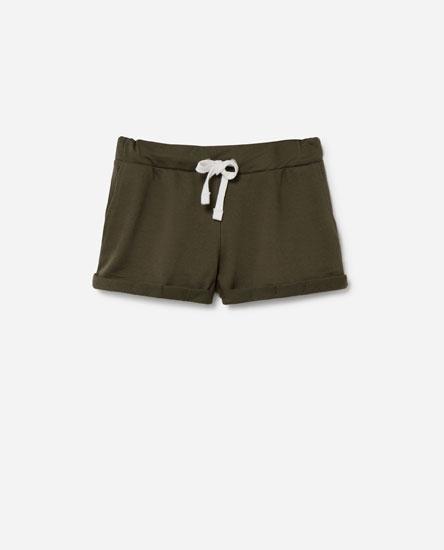 Basic plush shorts