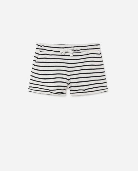 Basic printed plush shorts